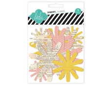 Heidi Swapp Trimmings Flowers Scrapbooking Craft Cards, tags, Paper Blooms
