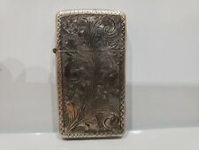 Vintage ITALY HAND MADE 800 Sterling Silver Floral Design & ZIPPO LIGHTER, WORKS