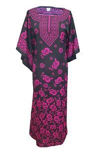 .Free Size Kaftan Tunic Holiday Dress Beach Cover up fits 14,16,18,20,22,24