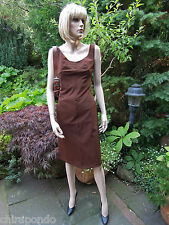Christian Lacroix Kleid Gr.40 Gr. 42 braun mocca stretch grün  RAR FIRST CLASS