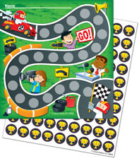 CD 148003 Racing Cars Student Mini Incentive Charts & Stickers Class Management