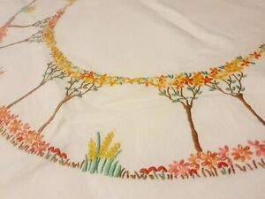 Vintage Embroided Table Cloth