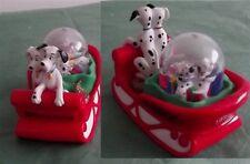 Christmas Disney 101 Dalmatians In Red Sled Snow Globe
