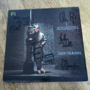 Gary Numan -  I Assassin  - Vinyl LP -  Signed by Gary and the band in 1985