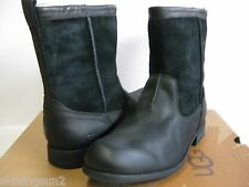 Ugg Lerette Leather Black Men Boots US11.5/UK10.5/EU45/JP29.5