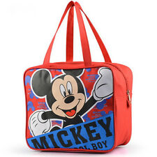 Mickey Mouse Zipper Lunch Box Carry Bag Kids Picnic Pouch Tote Travel Handbag