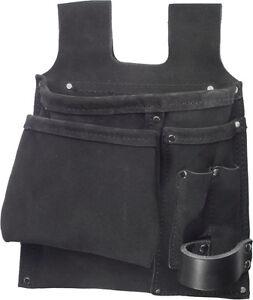 JOB Werkzeugtasche STABIL, Messertasche, Gürteltasche Nageltasche, Leder schwarz