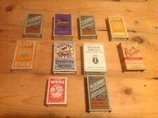 Vintage Cigarette Packets.   9 In Total. Also Capt Webb Matchbox.