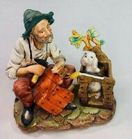 Vintage Norleans Japan Bisque Porcelain Man & Dog Figurine