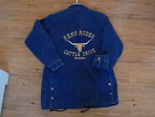 Reno Rodeo Cattle Drive Wrangler Jacket Women's Medium Denim/leather Contestant