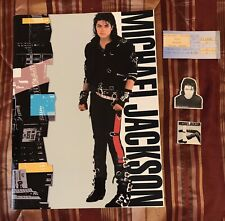 1988 MICHAEL JACKSON CLEVELAND CONCERT TICKET STUB BAD TOUR BOOK 2 LICENSED PINS
