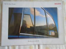 Isuzu Trooper range brochure c1999 + price & colour guide
