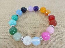Handmade gemstone bead stretch bracelet; MIXED GEMSTONE; Chakra Beads;