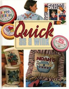 Quick as a Wink - Hardcover 1996 - Cross Stitch Patterns - New