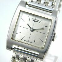 LONGINES HAND-WINDING SILVER WOMEN'S VINTAGE WATCH SWISS MADE