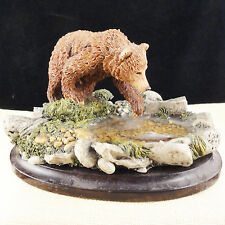 "Bear Fishing 2.5"" tall by Country Artists England New Never Sold porcelain"