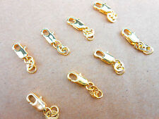 10PCS DIY nice Jewelry Findings GF 18K Yellow Gold Filled 18KGF Lobster Clasps