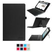 For Amazon Fire HD 10 2017 2015 Folio Case Cover + Removable Bluetooth Keyboard