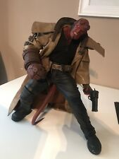 "RARE MEZCO 18"" HELLBOY ACTION FIGURE WITH ACCESSORIES GUN BELT AND CROSS CHAIN"