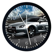 Nissan GTR Super Car Black Frame Wall Clock Nice For Decor or Gifts W89