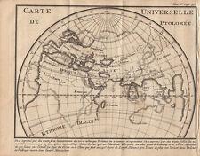 Weltkarte Mappe-monde nach Prolomäus Orig. Kupferstich 1739
