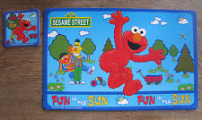 4 SESAME STREET Placemats and Coasters ELMO Fun in the Sun 2007