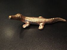 Gold Leafed Alligator Decorative Paperweight - Vintage Classic Office Staple