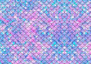 A4 Purple Lilac Mermaid Print Pattern Icing / Wafer Paper Edible Print Cake Wrap