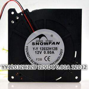 12CM 12032 Turbo Fan Double Ball Blower YY12032H12B 12V 0.80A
