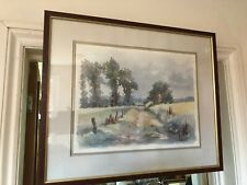 Framed Glass  Print, Country  Scene by Gunther Plate
