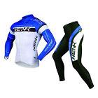 SOBIKE NENK Mens Long Sleeve Cycling Jersey & Pants Sets Bike Tights-Cooree Blue