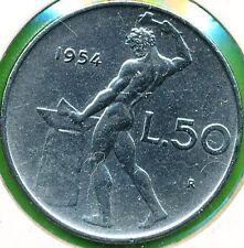 1950 REPUBBLICA ITALIANA 50 LIRE ROMA COMUNE SPL-