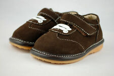 Baby boys toddler Tiny Squeak Explorer brown squeaky shoes 4 Infant UK