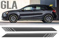 Mercedes GLA schwarz Edition Optik Seite Streifen Tür Grafik - AMG