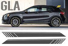 Mercedes gla black edition style rayure sur les côtés porte carte graphique-amg