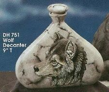 Ceramic Bisque Wolf Decanter Ready to Paint U-Paint Animal Wildlife