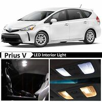 12x White Interior Map Tag LED Lights Package Kit For 2012-2016 Toyota Prius V