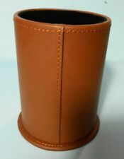 Tobacco Leather Pen Pencil Cup Holder Display Box New In Sealed Package With Box