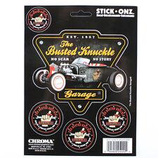 Busted Knucke Garage No Scar No Story Hot Rod Aufkleber Sticker Decal 5 Stück
