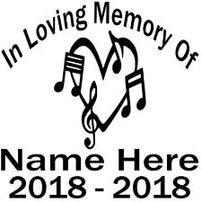 In Loving Memory Vinyl Decal Custom Sticker Car Truck SUV Home Window Set of 2