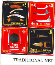 Nepal Block of 4 Se-tenant trditinl weapn 1994 Scott No 541 Cat Val $ 3.25 #SF27