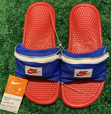 Nike Benassi Fanny Pack Slide Sandals Red/Blue/White AO1037-601 Men's Size 8