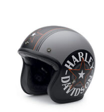 Harley Davidson Bell Grey Star Retro Helmet Grey Large
