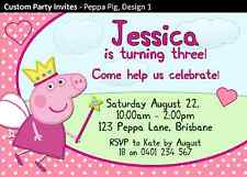 Peppa Pig Birthday Party Invites Invitations Cards Personalised