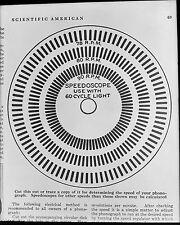 Antique 8x10 Glass Plate Negative. Copy Negative of a Stroboscope Disc (V4569)