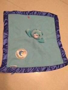 Care Bears Bedtime Bear Baby Lovey Security Blanket Plush Blue