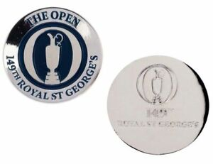2021 OFFICIAL (Royal St Georges) British Open CONCAVE GOLF BALL MARKER