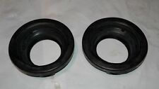 """2-1/2"""" ROUND OPEN BACK MOUNTING SHOCK PROOF BLACK RUBBERIZED REPLACEMENT GROMMET"""