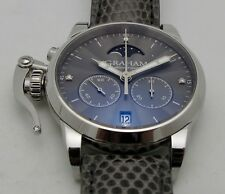 Graham Chronofighter Classic Lady Moon Gray Lizard 2CXBS.A02A.L108B