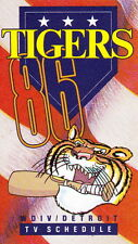 1986 Detroit Tigers Baseball Pocket Tv Schedule